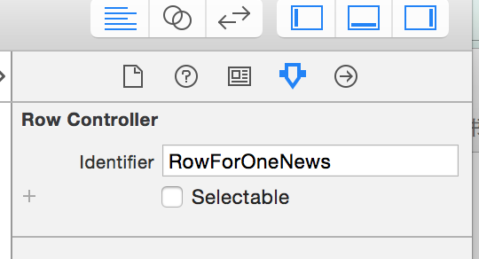 Selectable row